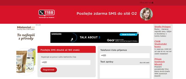 SMS do O2 zdarma