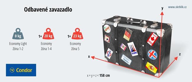 Odbavená (zapsaná) zavazadla u Condor 2018