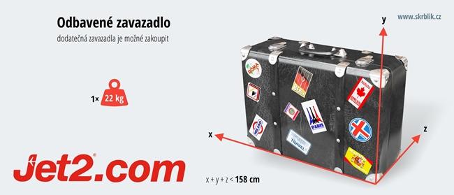 Odbavená (zapsaná) zavazadla u Jet2.com 2018
