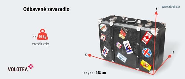 Odbavená (zapsaná) zavazadla u Volotea 2018