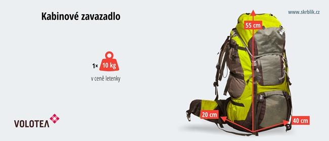 Příruční / kabinová / palubní zavazadla u Volotea 2018