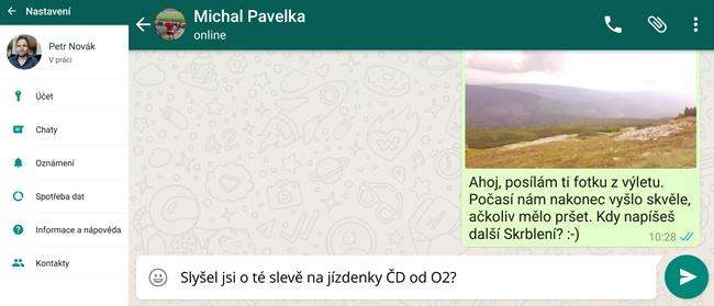 Aplikace Whatsapp - SMS zprávy zdarma