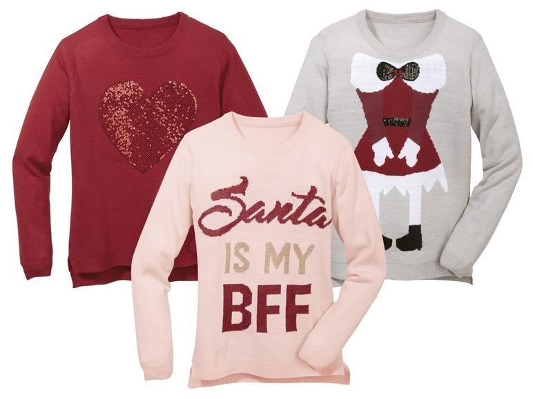 Dívčí vánoční svetr Pepperts z Lidlu  4ea1fbef61