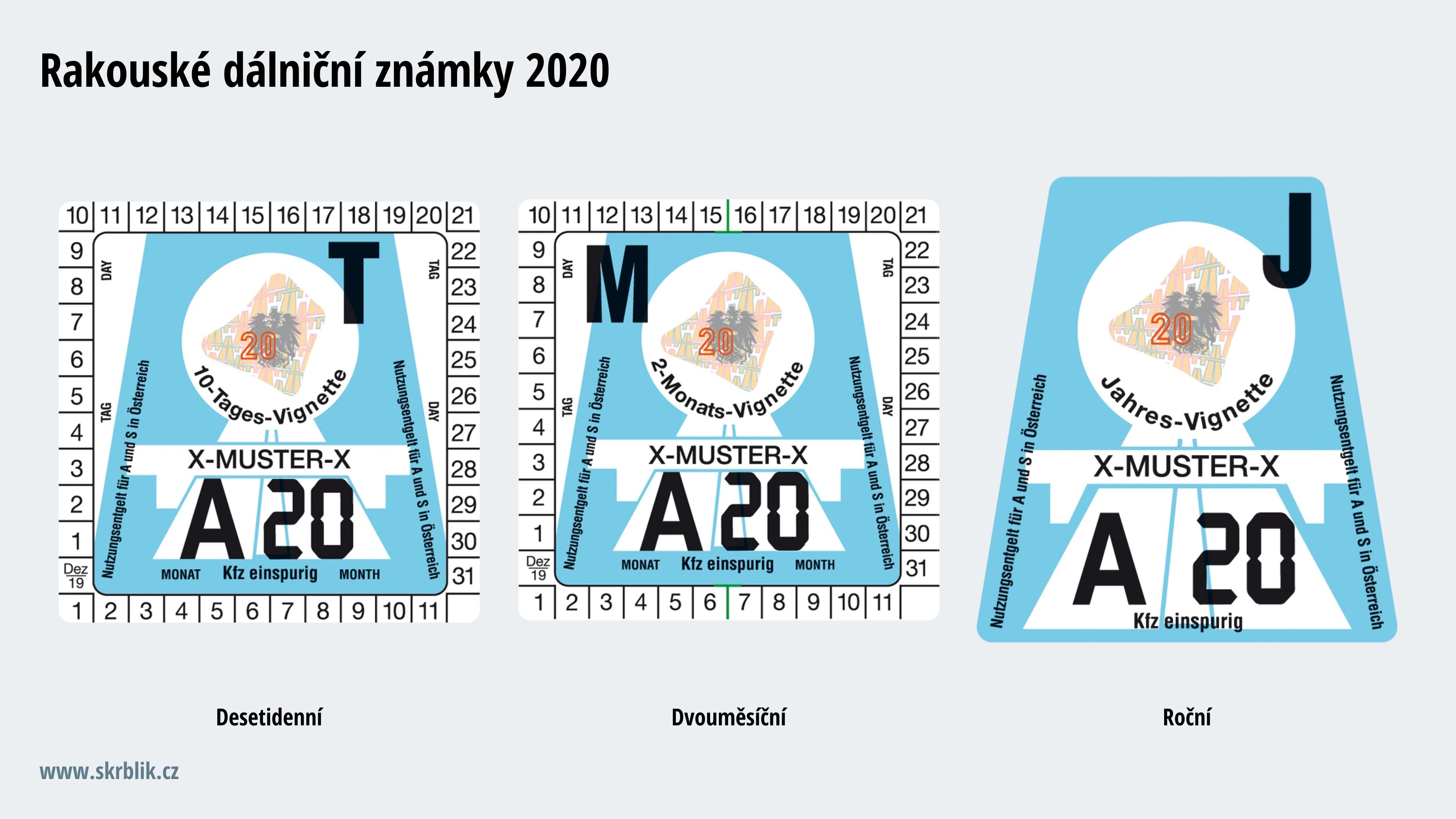 Dalnicni Znamka Rakousko 2020 Cena Kde Koupit Placene Useky
