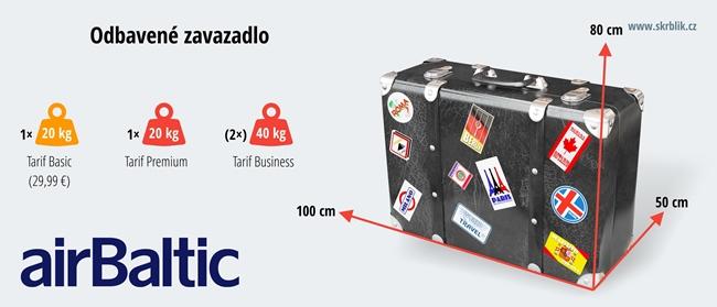 Odbavená (zapsaná) zavazadla u Air Baltic 2019