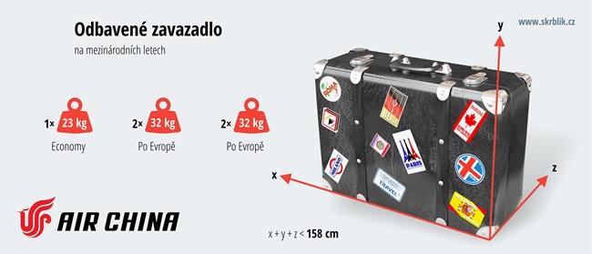 Odbavená (zapsaná) zavazadla u Air China 2019