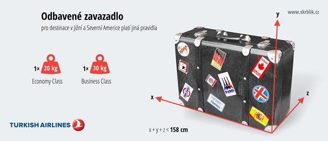 Odbavená (zapsaná) zavazadla u Turkish Airlines 2019