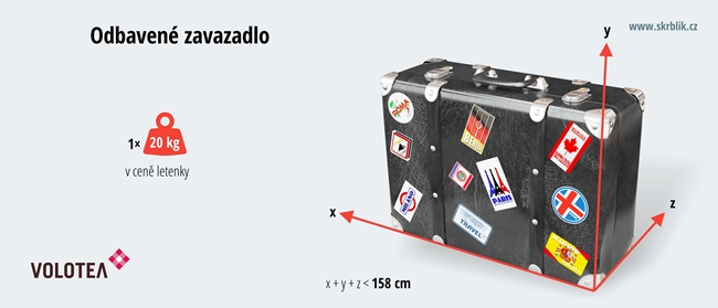 Odbavená (zapsaná) zavazadla u Volotea 2020