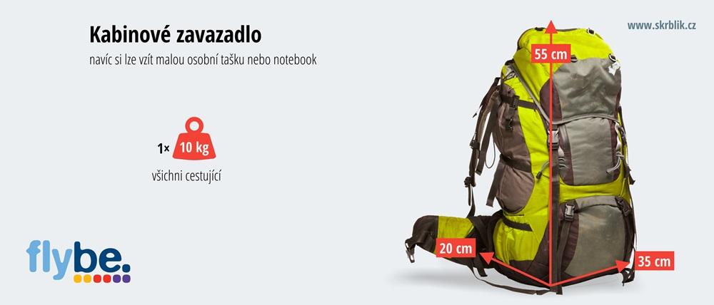 Příruční / kabinová / palubní zavazadla u Flybe 2020